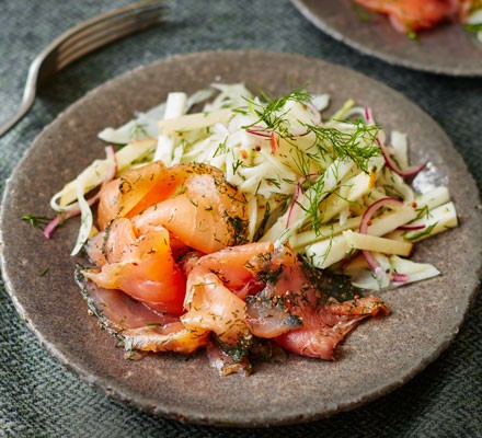 Gravadlax with celeriac & fennel salad