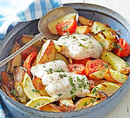 Greek-style roast fish