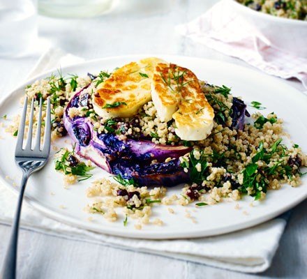 Halloumi & red cabbage steaks