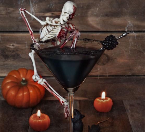 Haunting Halloween cocktail