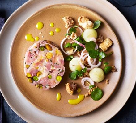 Ham hock & pistachio roll 2016