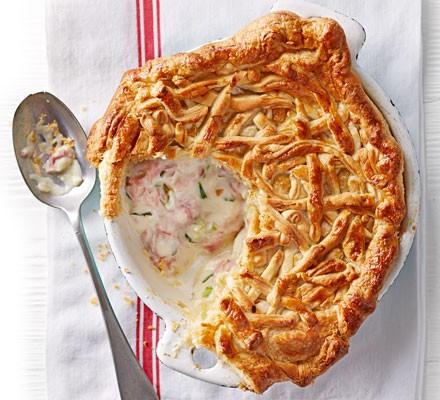 Ham & tarragon pot pie