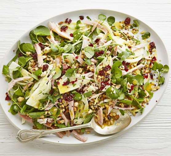 Ham & watercress salad with clementine dressing