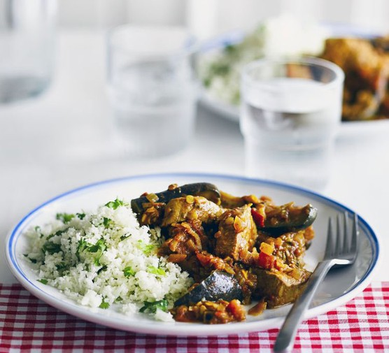 Home-style pork curry with cauliflower rice