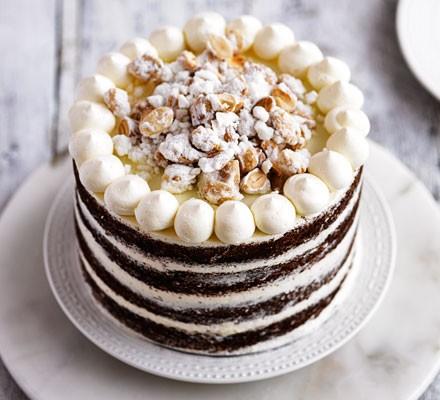 Honey & almond layer cake