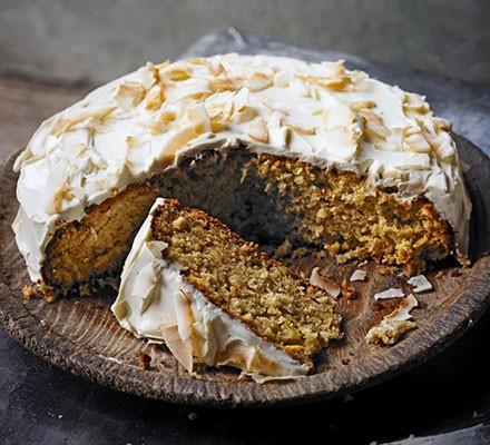 Honey, parsnip & coconut cake