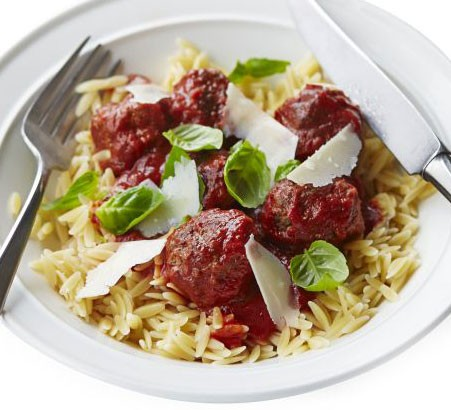 Italian meatballs with orzo