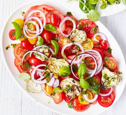 Italian tomato & artichoke platter