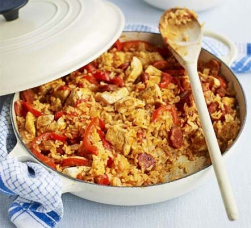 Chicken and chorizo recipes image