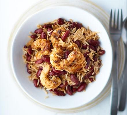 Jerk prawn & coconut rice bowls 2016