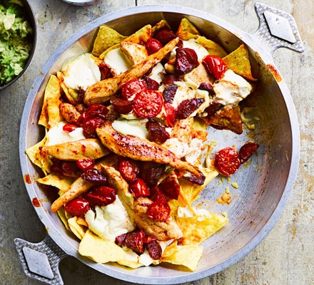 John's chicken nacho one-pot