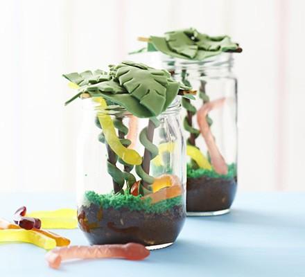 Chocolate jungle jam jar
