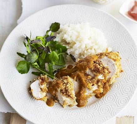 Lighter chicken katsu