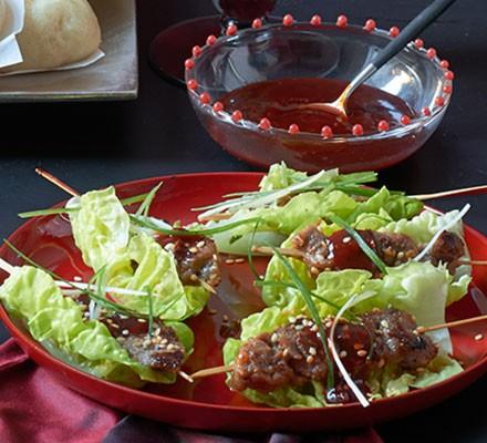 Korean beef bulgogi skewers