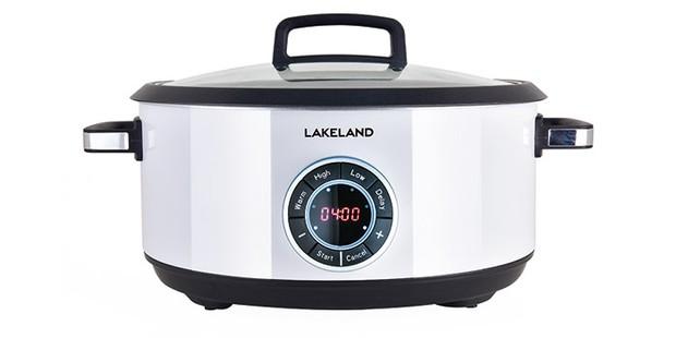 Lakeland Digital Slow Cooker on a white background