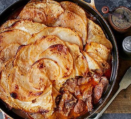 Lamb, turnip & celeriac hotpot