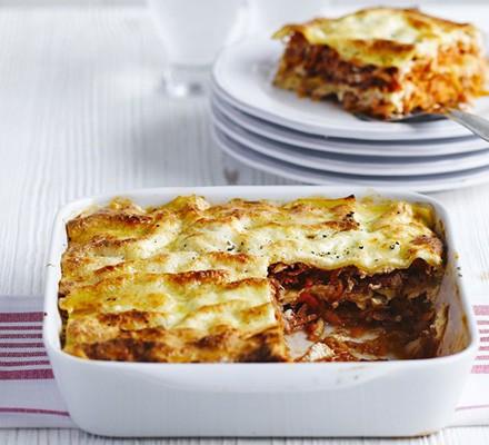 Root veg & ricotta lasagne
