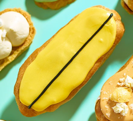 Lemon & passion fruit eclairs
