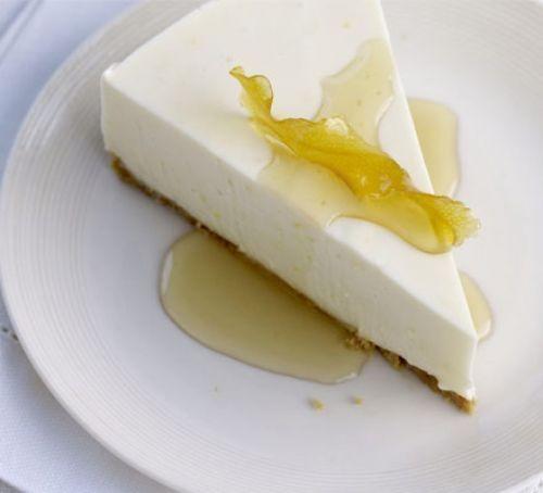 Lemon quark cheesecake
