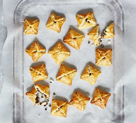 Easy lentil pastries served on a tray