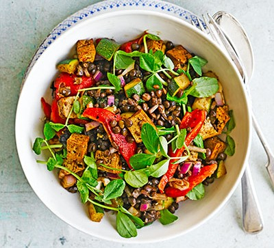 Lentils and tofu