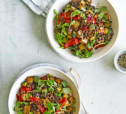 Puy Lentils With Smoked Tofu Recipe Bbc Good Food