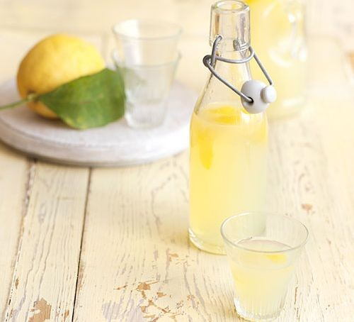 Limoncello in bottle