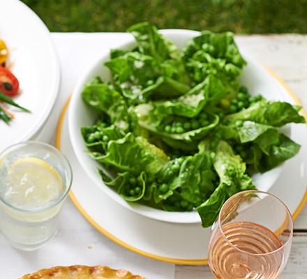 Little Gem & pea salad