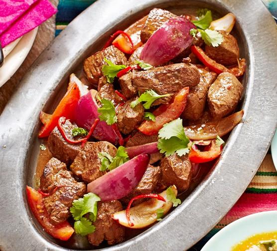 Lomo saltado (Beef stir-fry)