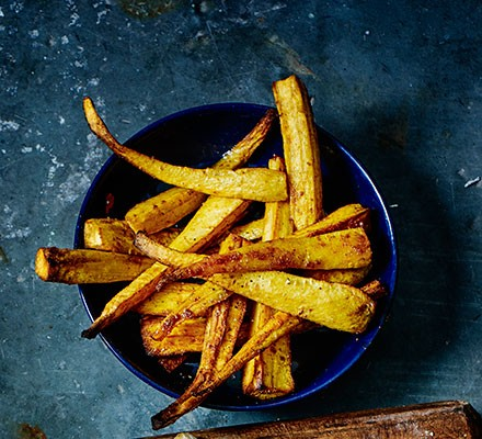 Maple spiced parsnips