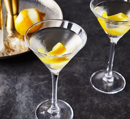 Marini in glass with lemon peel