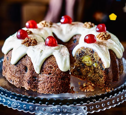 Marzipan-in-the-middle bundt cake