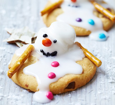 Melting Snowman Biscuits Recipe Bbc Good Food