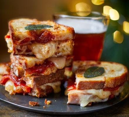 Membrillo, chorizo & cheddar toastie