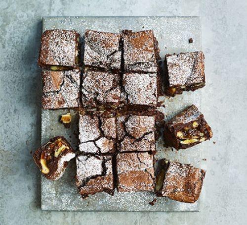 Mince pie brownie squares