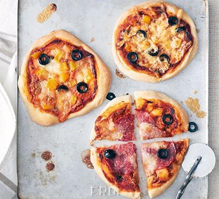 Mini top-your-own pizzas