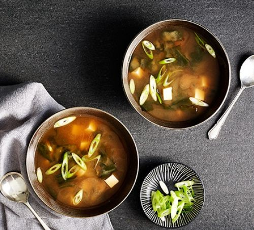 Two bowls of miso soup