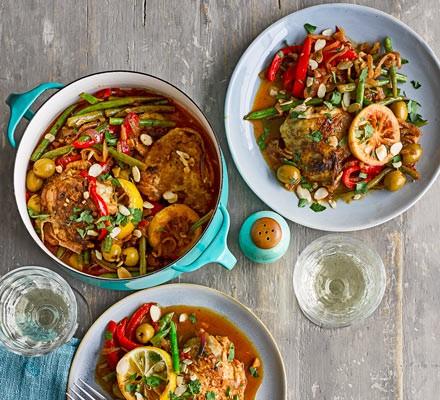 Moroccan chicken stew