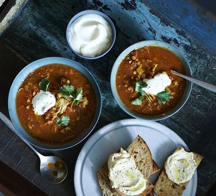 Moroccan harira & chicken soup