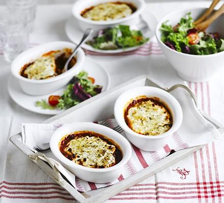 Lighter moussaka with crunchy feta & oregano