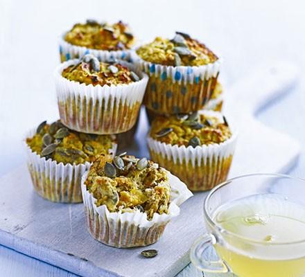 Quinoa & apricot muffins