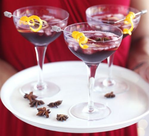 New Year's Eve cocktails: mulled wine cocktail