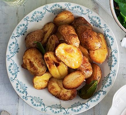 Brown butter new potatoes