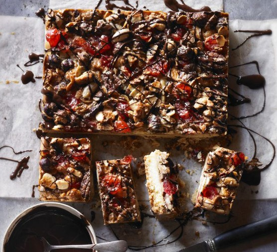 Nutty Florentine bars