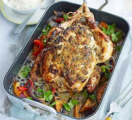 One-pan jerk roast chicken