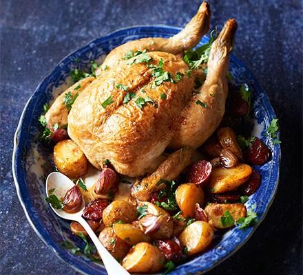 One-pot chicken with chorizo & new potatoes