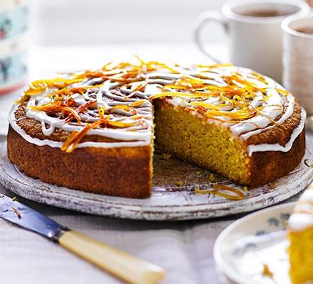 Orange & coriander drizzle cake