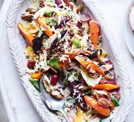 Orange, fennel & wild rice salad