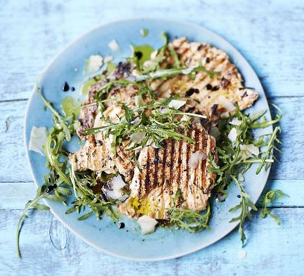 Paillard of chicken with lemon & herbs