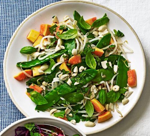 Papaya salad in bowl